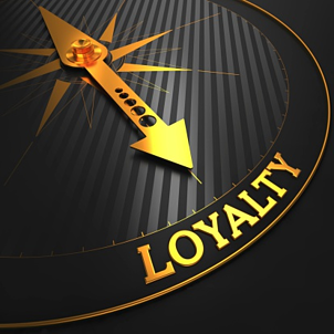 arrow pointing to the word loyalty