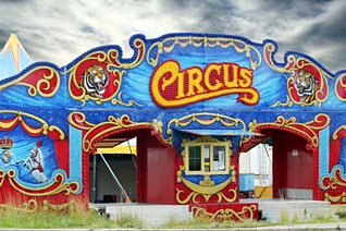 front of circus
