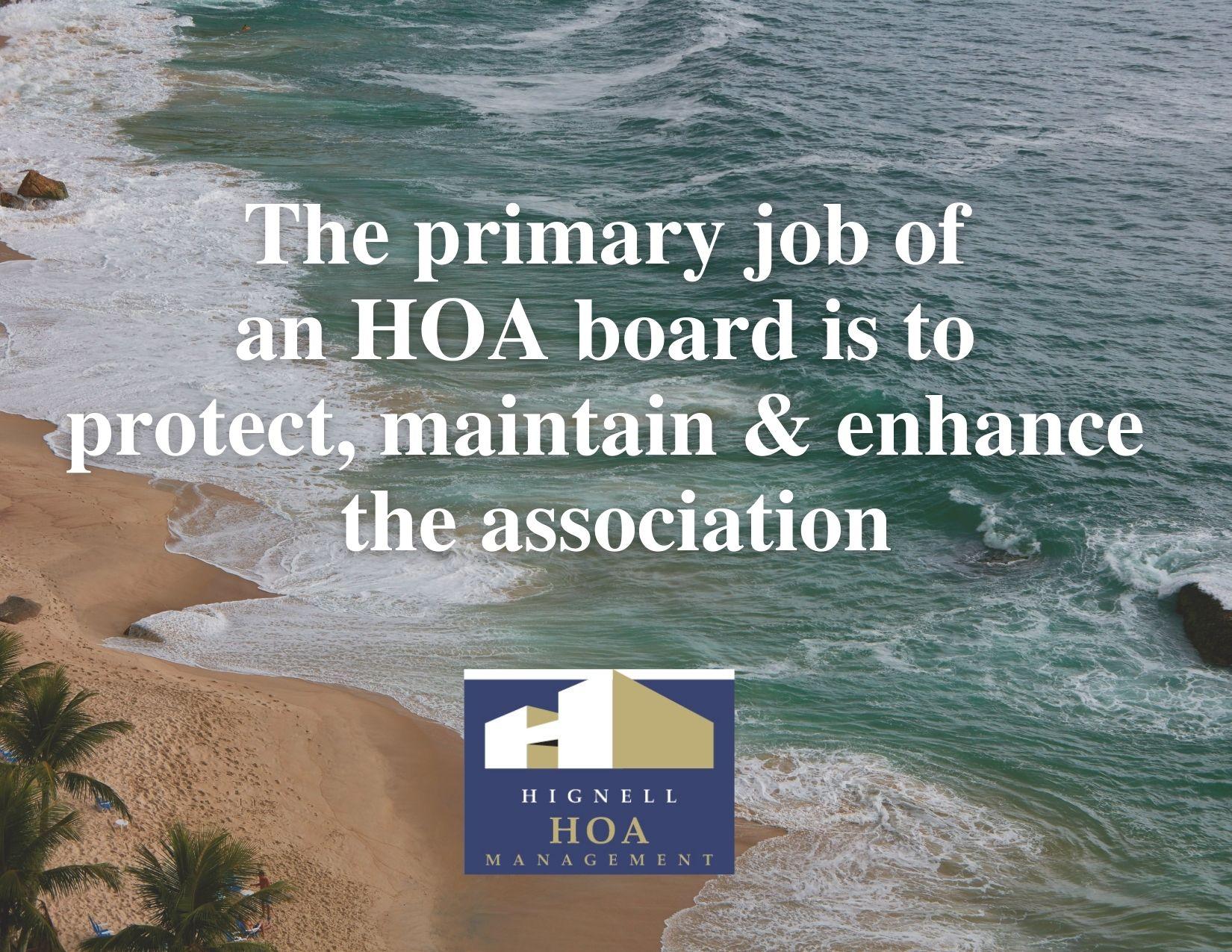Hignell HOA beach quote