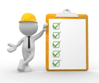stick figure holding clipboard checklist