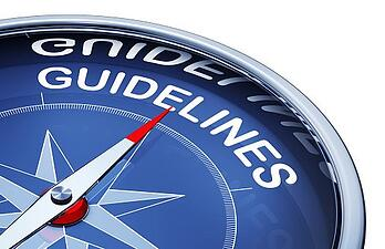 compass with the word guidelines