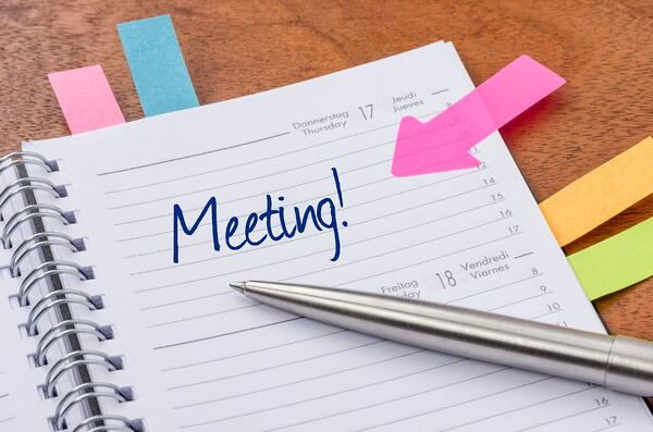 daily calendar with the entry meeting