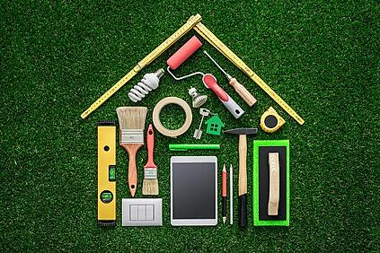 maintenance tools in the shape of a house